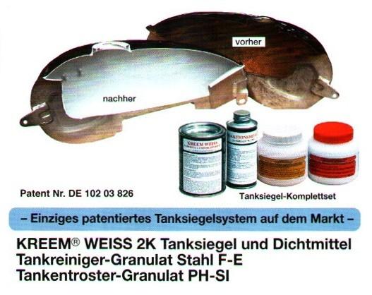 Tankversiegelung Set - Kreem® Weiss