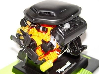 Modell-Motor V8 Plymouth Hemi Cuda Shaker Eng.