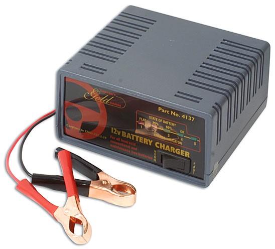 Batterieladegerät 12 Volt mit Abschaltautomatik