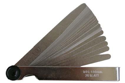 Präzisionslehre 20 Blatt - 0,05 bis 1,00mm