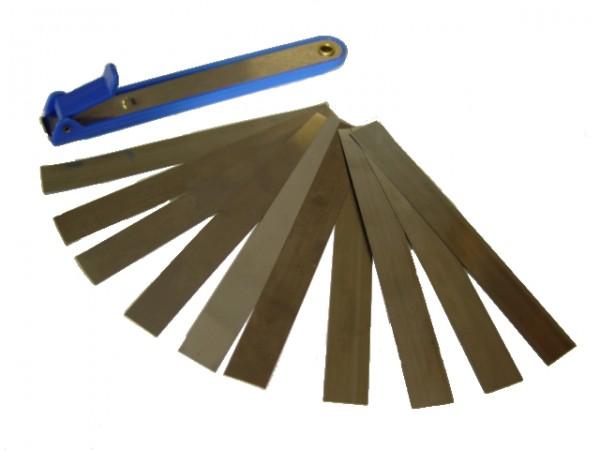 Fühlerlehren 10 Blatt - 0,03 bis 0,3mm