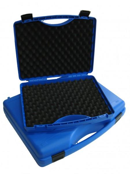 Kunststoff-Koffer blau - mit Schaumstoffeinlage
