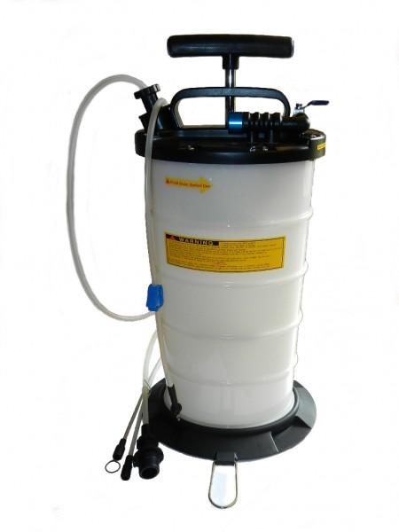 Druckluft u. manueller Flüssigkeitsabsauger - 9,5 Liter