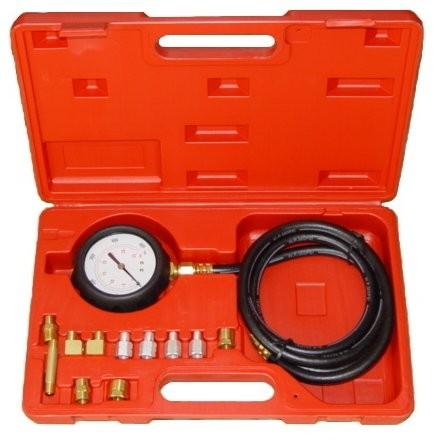Öldrucktester mit 11 Adaptern