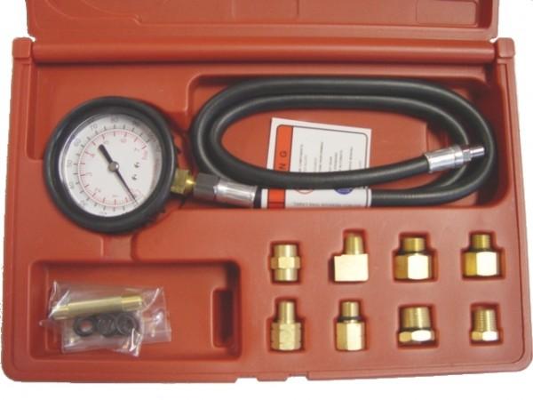 Öldrucktester mit 10 Adaptern