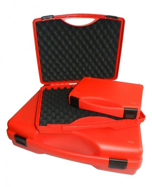 Kunststoff-Koffer rot - mit Schaumstoffeinlage