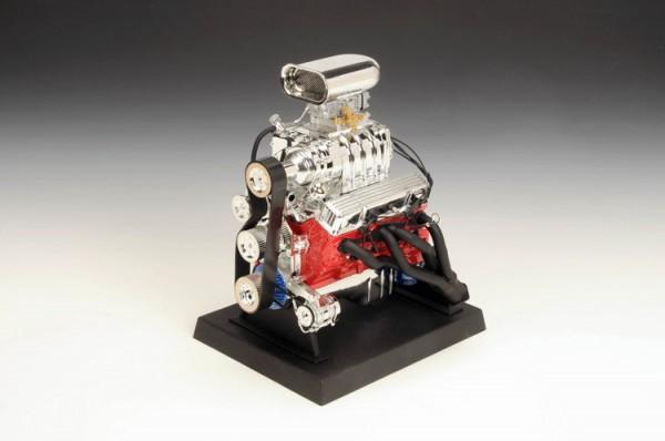 Modell-Motor V8 Chevrolet Blown Hot Rod Engine