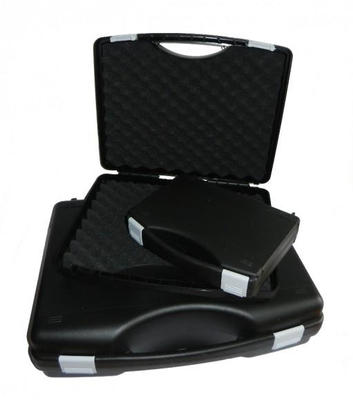 Kunststoff-Koffer schwarz - mit Schaumstoffeinlage