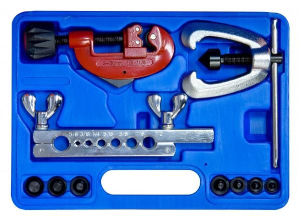 10-teiliges Leitungsbördelgerät für Kupfer-, Messing- und Aluminiumleitungen