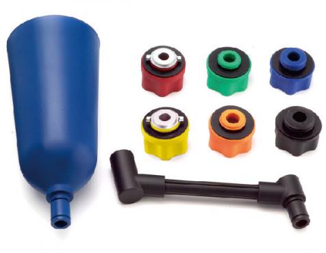 Motoröl Einfüll Trichterset, feststellbar mit diversen Adaptern
